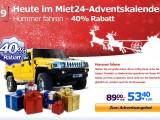 Adventsaktion: 40% Rabatt auf eine Hummer Fahrt