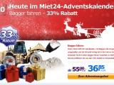 Adventsaktion: 33% Rabatt auf Bagger fahren