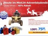 Adventsaktion: 40% Rabatt auf Quad fahren