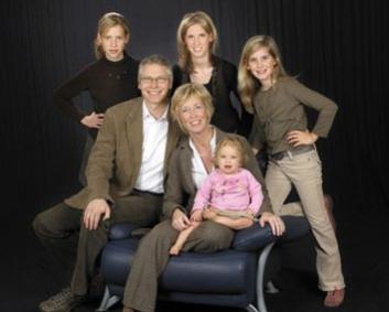 Familienfoto für die Großeltern