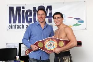 Boxweltmeister Marco Huck vermietet Werbeflächen auf Miet24