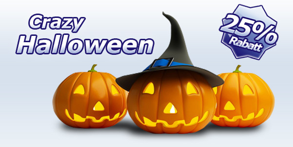 25% Crazy Halloween Rabatt Aktion auf über 2.500 Erlebnisse